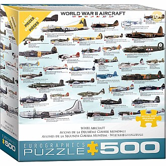 500 pc - Large Puzzle Pieces - World War II Aircraft