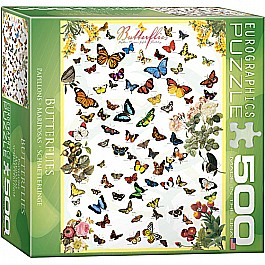 Butterflies 500-Piece Puzzle (small box)
