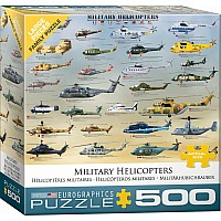 Military Helicopters 500-Piece Puzzle (small box)