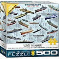 500 pc - Large Puzzle Pieces - World War II Warships