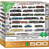 500 pc - Large Puzzle Pieces - History of Trains