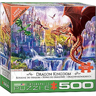 500 pc - Large Puzzle Pieces - Dragon Kingdom by Jan Patrik