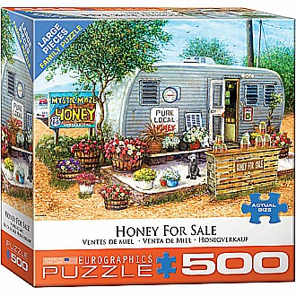 500 pc - Large Puzzle Pieces - Honey For Sale by Janet Kruskamp