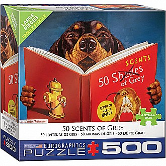 500 pc - Large Puzzle Pieces - 50 Sents of Grey
