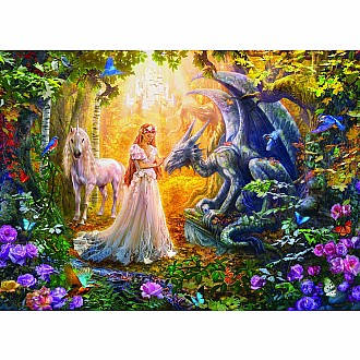 500 pc - Large Puzzle Pieces - Princess' Garden by Jan Patrik