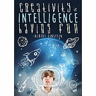 "Creativity Is Intelligence 13"" X 19"" Posters"