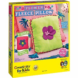 Flower Fleece Pillow (new specs to reflect case pack of 6)