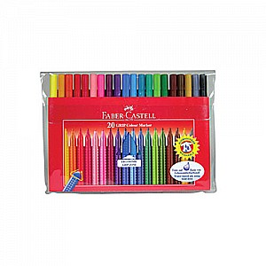 20 ct GRIP Marker Pens, washable, wallet