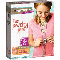 CRAFTIVITY - Jewelry Jam - Complete Craft Project Kit - Create Your Own Sophisticated Shrink and Link Jewelry - 8+ Pieces - Easy