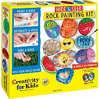 Hide & Seek Rock Painting Kit (weight varies due to natural rocks)