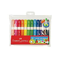 12 ct Washable Broadline Jumbo Markers, wallet
