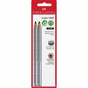 2ct Jumbo GRIP Graphite No. 2 (B) EcoPencils