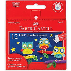 12ct GRIP Erasable Crayons