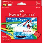 15 CT Erasable Crayons, Washable