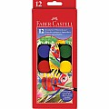 12 CT Watercolor Paint Set (cakes) With Free Brush
