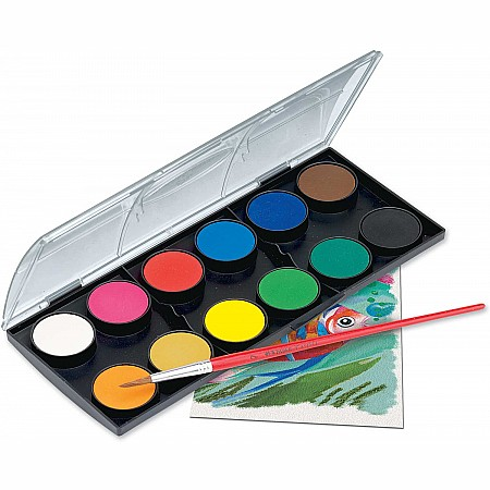 12 watercolor paint set