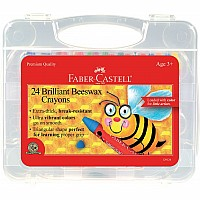 Faber Castell 24ct Brilliant Beeswax Crayons in Storage Case