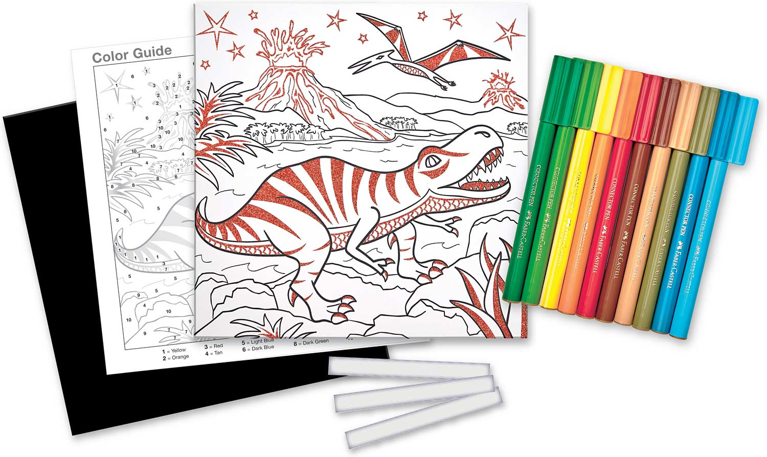 Color By Number T Rex Foil Fun Faber Castell