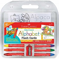Color & Learn Alphabet Flash Cards