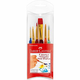 6ct Triangular Paint Brush Set