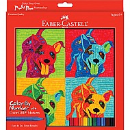 Color By Number with Markers POP Art Puppies