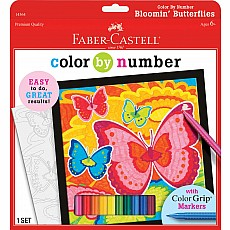 Color By Number Bloomin' Butterflies