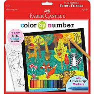 Color By Number with Markers Forest Friends