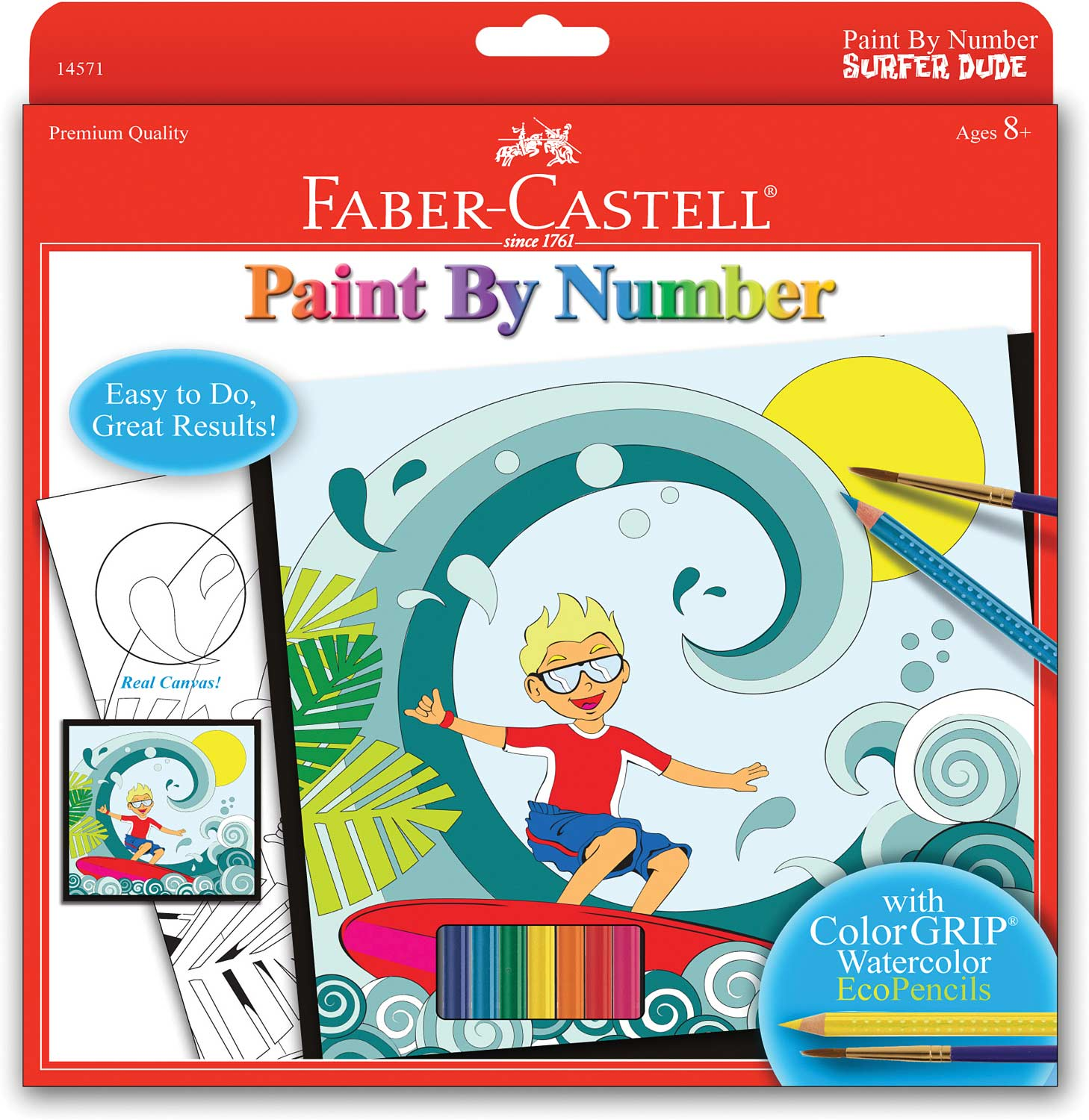 Paint By Number Surfer Dude - Faber Castell