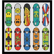 Paint By Number Skateboards
