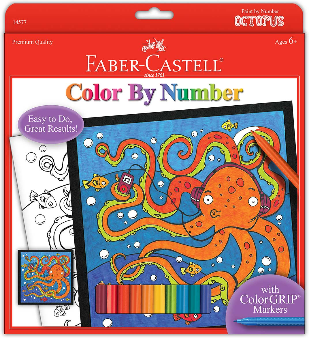 Color By Number Octopus - Stevensons Toys