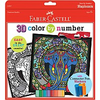 Color By Number 3D Elephants