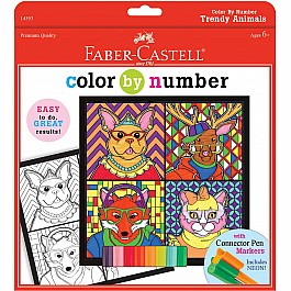 Color By Number Trendy Animals