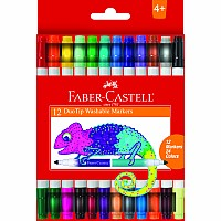 12ct Duo Tip Washable Markers (24 colors total)