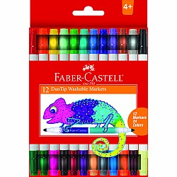 12 ct Duo Tip Washable Markers (24 colors total)