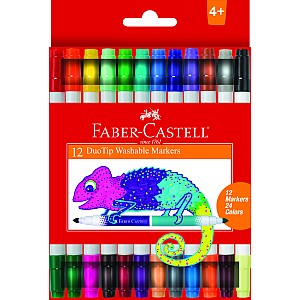 12ct Duo Tip Washable Markers (24 colors)