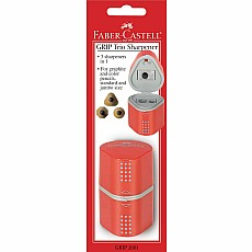 Single GRIP Trio Pencil Sharpener (Carded, blue or red)