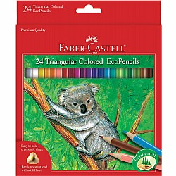 24 ct Triangular Colored EcoPencils