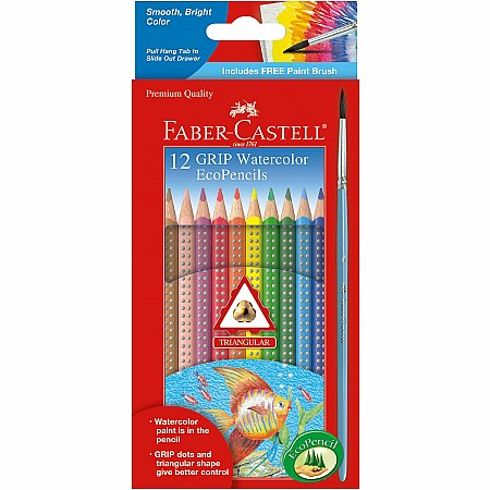 12ct Grip Watercolor Ecopencils