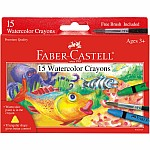 Watercolor Crayons 15ct with brush