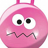 "22"" Dark Pink Wacky Face Jumping Ball"