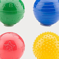 "4"" Playtime Assorted Play Ball"