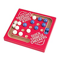 Wood Red Quick Chinese Checkers