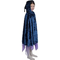 Crushed Velvet Cape - Mystic Blue