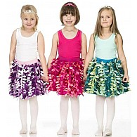 Petal Party Skirt - Fuchsia and Pink - Small (Toddler)