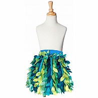 Petal Party Skirt - Teal and Aqua - Large