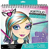 Fashion Angels Make-up Design Sketch Portfolio