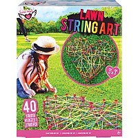 Lawn String Art Outdoor Activity