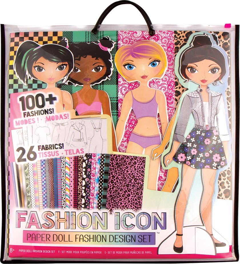 Fashion Icon Paper Doll Fashion Design Kit Snickelfritz Toys