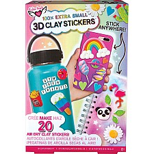 100% Extra Small Mini Clay 3D Stickers