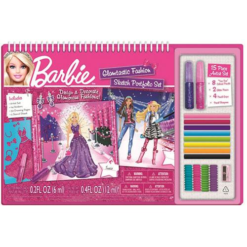 Barbie Glamtastic Fashion Sketch Portfolio With Art Set